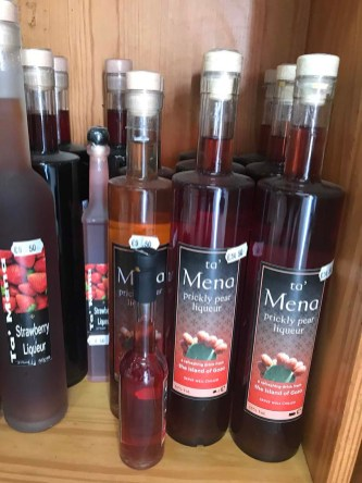 Liqueurs at Ta' Mena Estate in Gozo