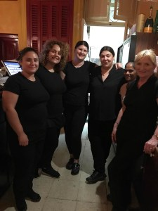 The all women staff in Ta' kris Restaurant