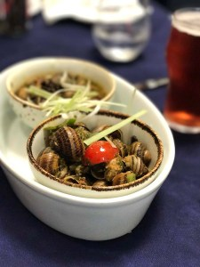 Snails in The King's Own Band Club Bar and Restaurant