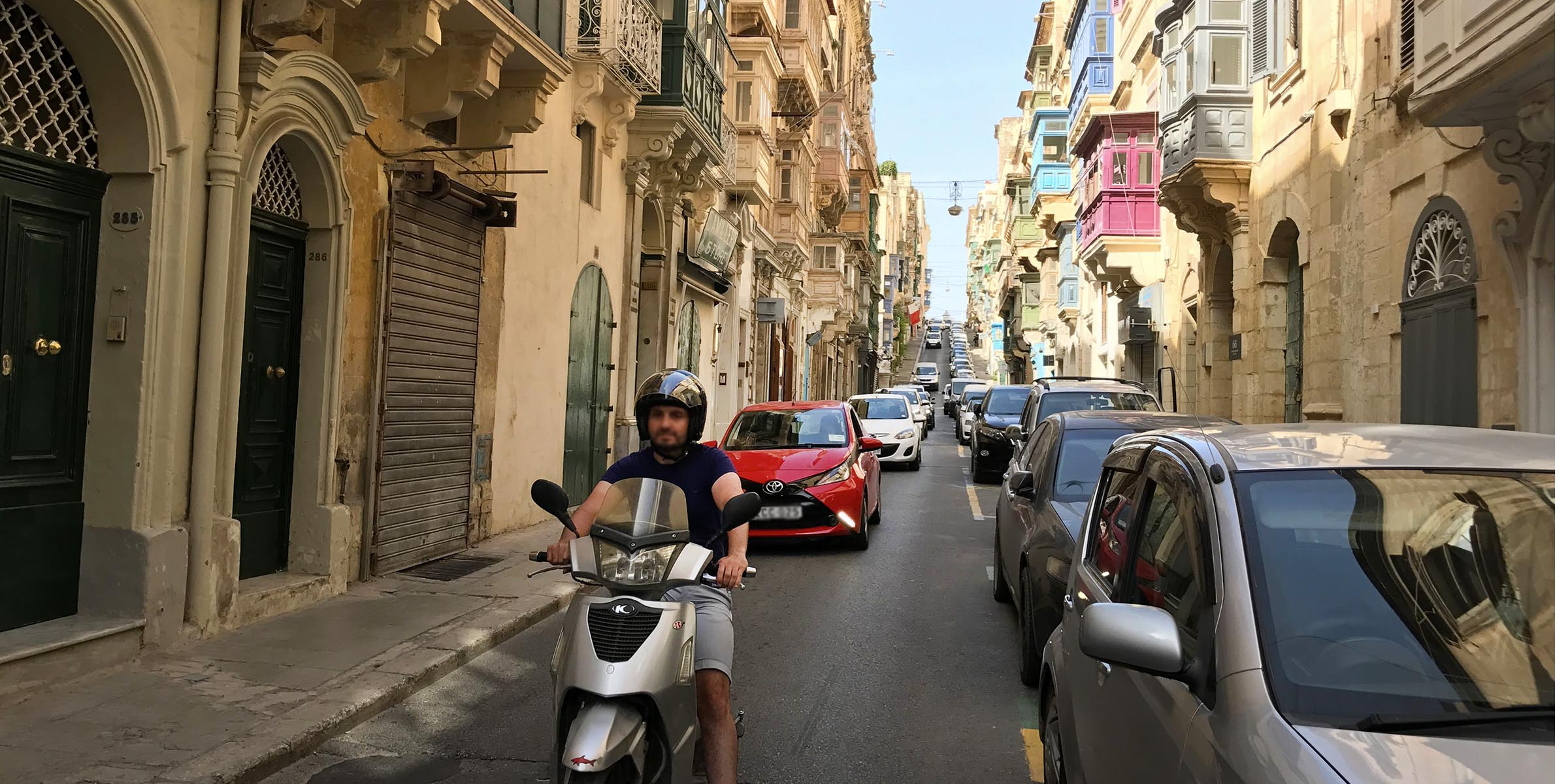 Traffic in Valletta