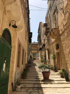 Typical stepped lanes in Birgu
