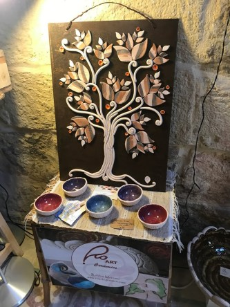 Ceramic products in Find the Door artisanal boutique in Birgu