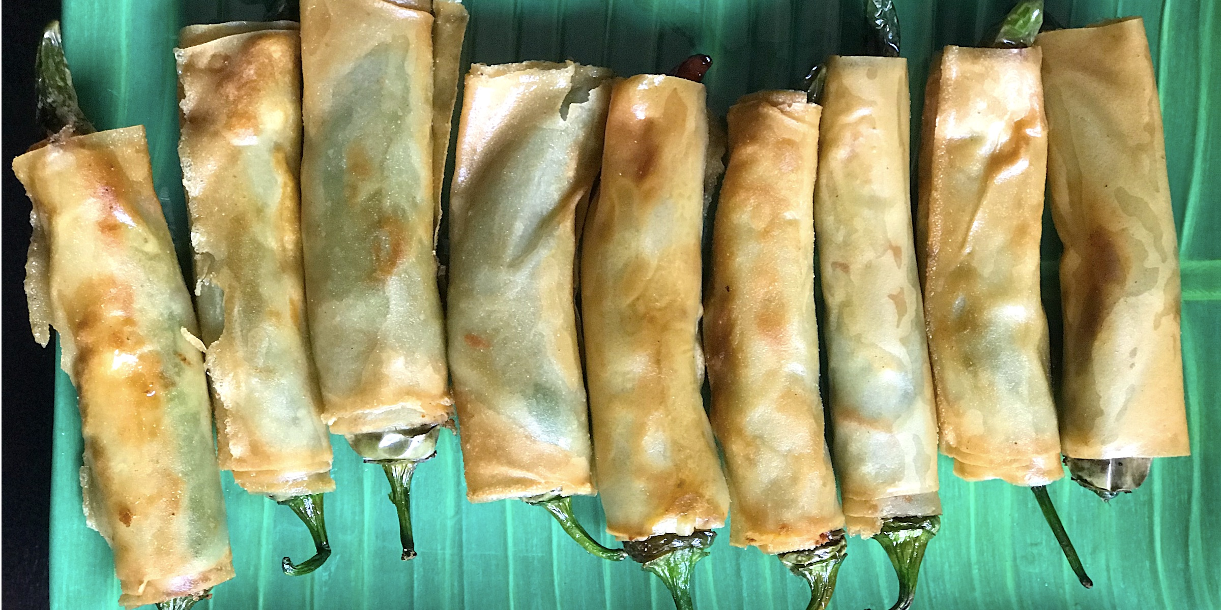 Stuffed Pepper Spring Rolls made at home