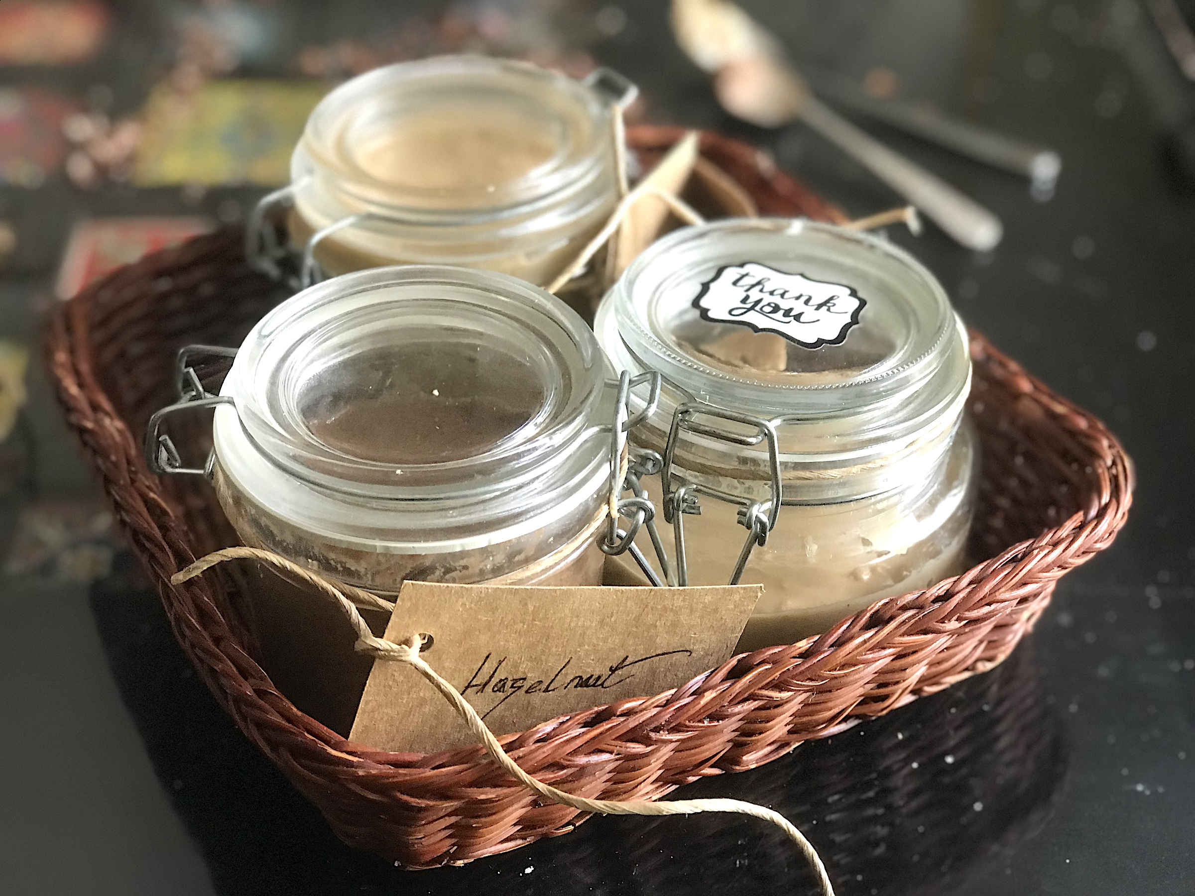 Homemade Nutty Spreads - Almond, Cashew & Hazelnut