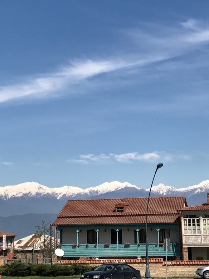 View of Caucasus range in Telavi