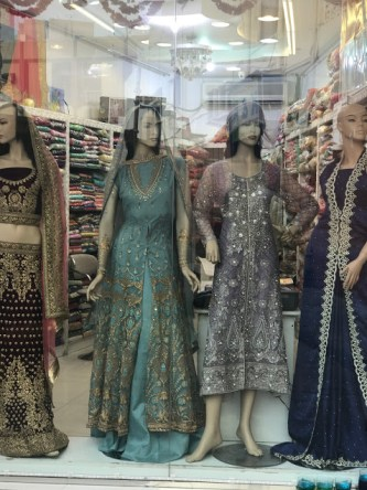 Traditional ethnic wear in Bur Dubai shops