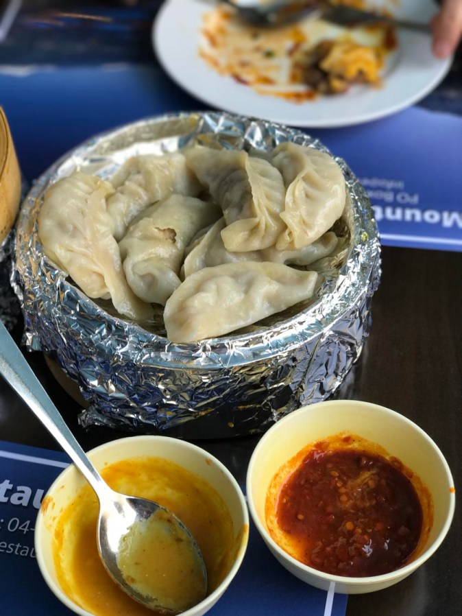 Steamed momo at Everest Restaurant in Bur Dubai