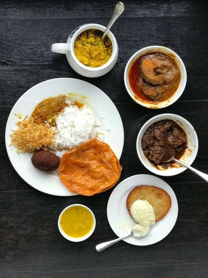 Traditional Bengali food from Bayleaf restaurant