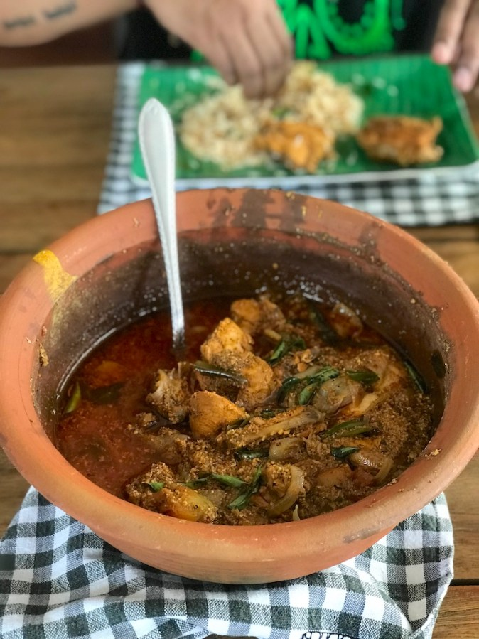 Chettinad Chicken in a claypot