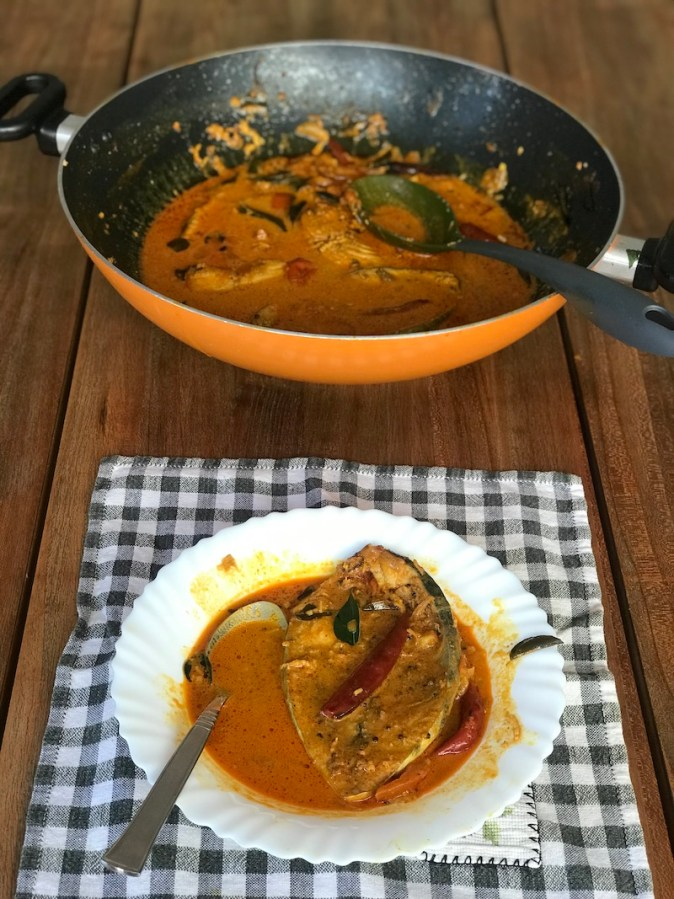 Meen Kuzhambu / Kulambu, fish gravy cooked in tamarind , coconut milk and spices