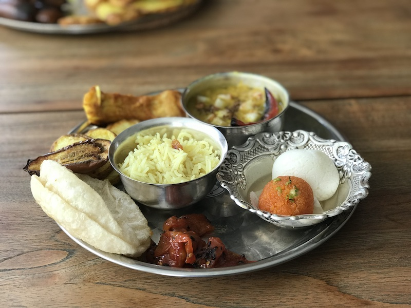 Traditional Bengali meal for Noboborsho or Bengali New Year