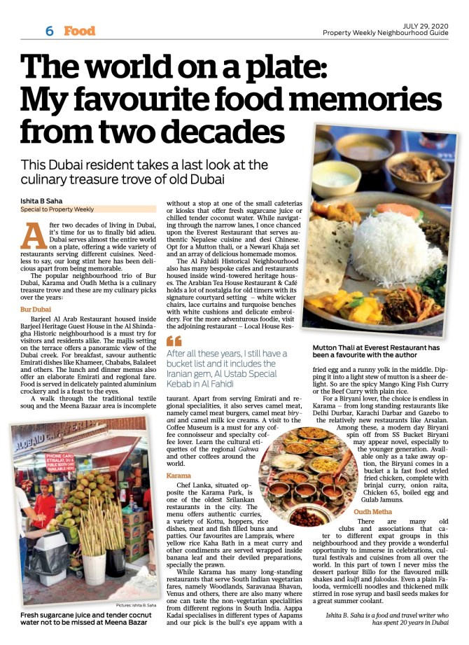 My favourite food memories from two decades