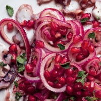 Sumac Octopus with Pomegranate | Recipe From Celebrity Chef Silvena Rowe
