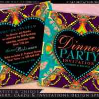 Bohemian Hippie Batik Dinner Party | Invitations