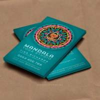 Teal Mandala Goddess Yoga Business Cards
