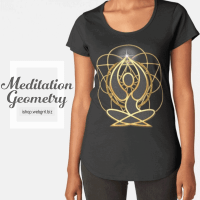 Meditation Geometry Yoga Goddess Mandala T-Shirt