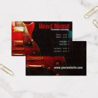 Electric Grunge Red Guitar Business card