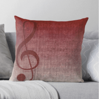 Clef Symbol Music Themed Cushions