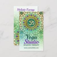 Purple Green Energy Holistic Yoga Business Cards