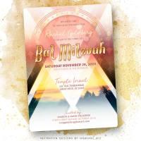 Festival Love Modern Bat Mitzvah Invitation