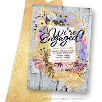 Modern Rustic Engagement Party Flyer