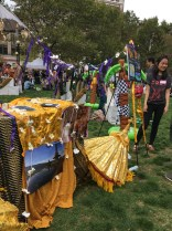 """One of the booths, representing the island of Bali. """"When you come to school here you quickly realize that people don't know what or where Indonesia is. They just say 'Oh Bali!'"""" said Edith Kusumawan, a student volunteer from BU."""