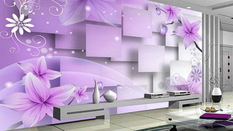 Gambar Wallpaper Dinding Ruang Tamu  Desainrumahidcom