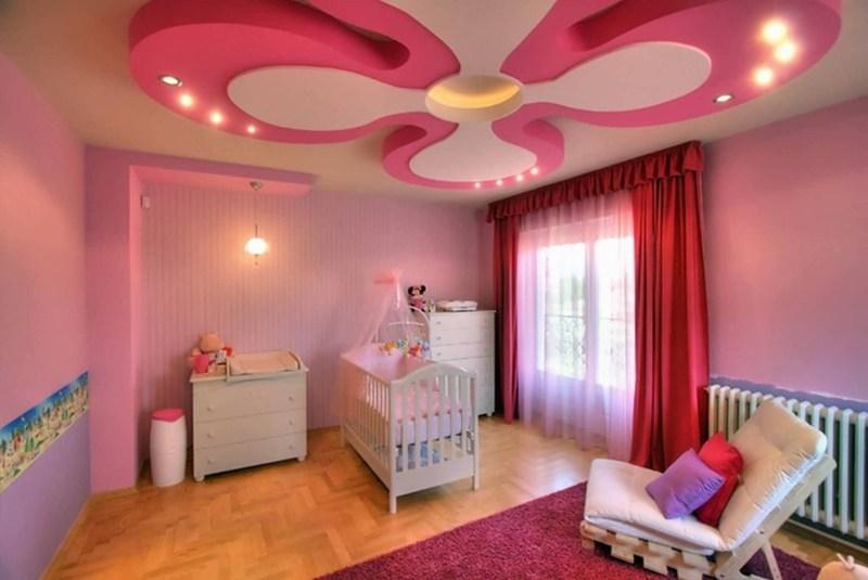 Nuansa gypsum untuk model plafon kamar tidur anak yang sederhana - 3 Model Plafon Kamar Tidur Anak Ini dapat Membuat Anak Beristirahat dengan Nyaman