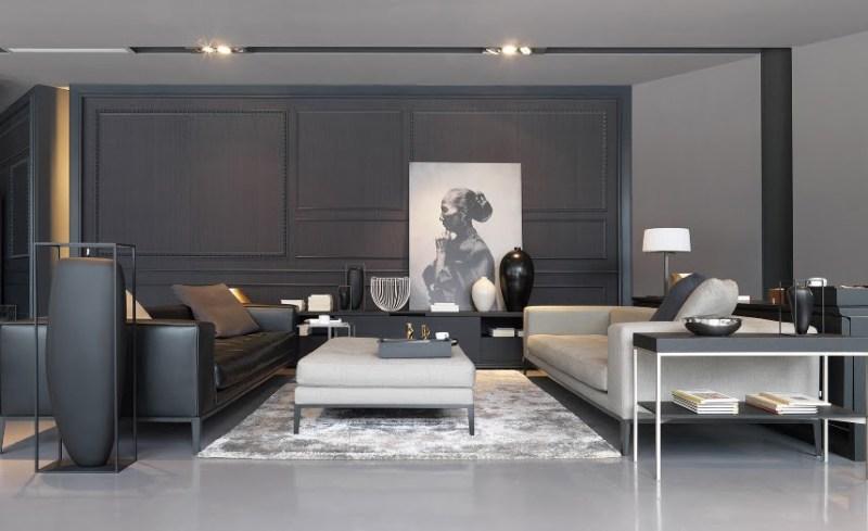 Bergaya dengan geometri - Contoh Wallpaper Dinding Minimalis di Ruang Keluarga - Portobello-deco.com