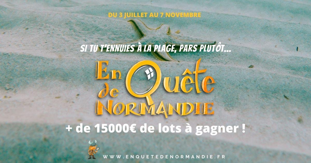Voir la suite sur En quête de Normandie 2021, jeu d'énigmes !