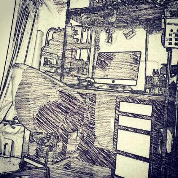 作業場の記録。#desk #deskwork (by Instagram)