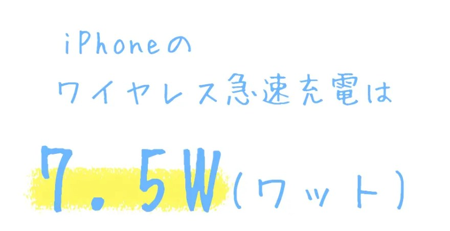 iPhoneの急速ワイヤレス充電は【7.5W】
