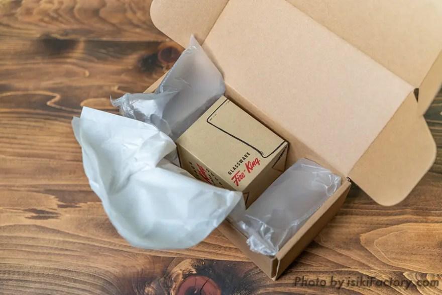 開封すると梱包材に包まれた商品
