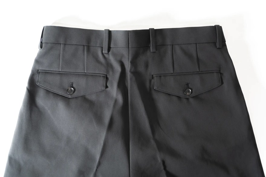 HARD TWIST DOUBLE CLOTH WIDE SLACKS