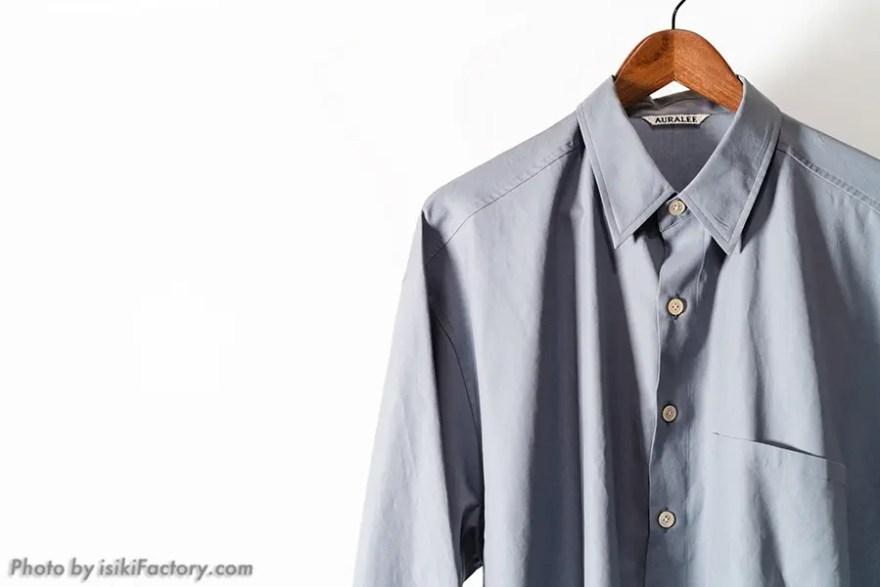 オーラリーシャツ:サイズ感