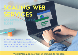 Scaling web management services for Bloggers and News portals in Nepal