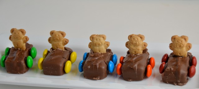 Teddy Bear Race Cars