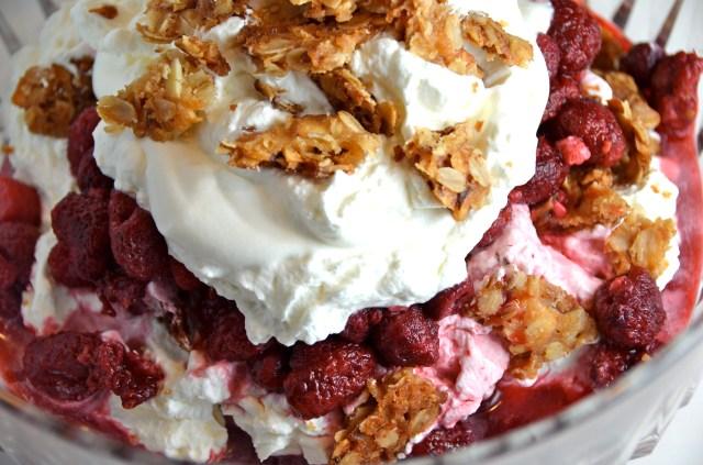 Raspberry Cranachan Trifle