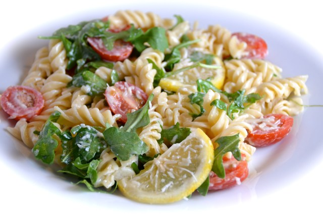 Lemon Fusilli With Arugula