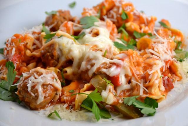 Overnight Meatball And Pasta Casserole
