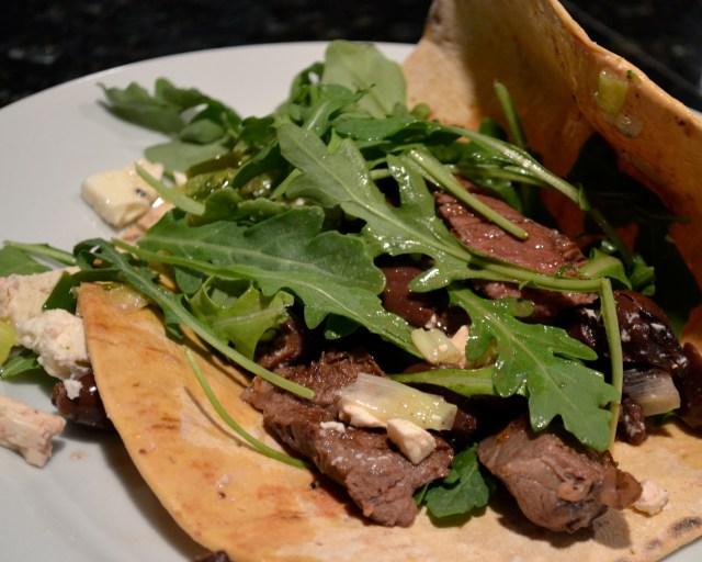 Lamb, Green Onion, Feta & Kalamata Olive Wraps