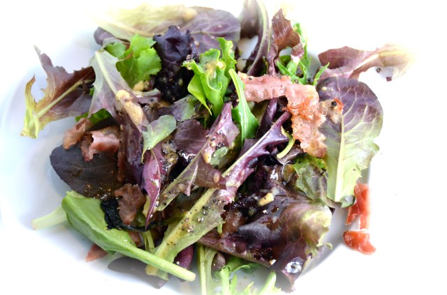 Mixed Greens With Bacon and Maple Syrup Vinaigrette