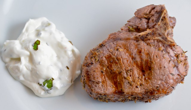Grilled Lamb Chops With Mint Cream Sauce