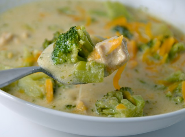 Chicken, Broccoli And Cheddar Soup