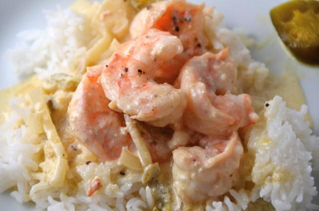 Shrimp In Jalapeño Cream Sauce