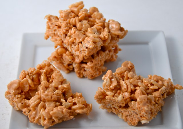 Caramel Rice Krispies Treats