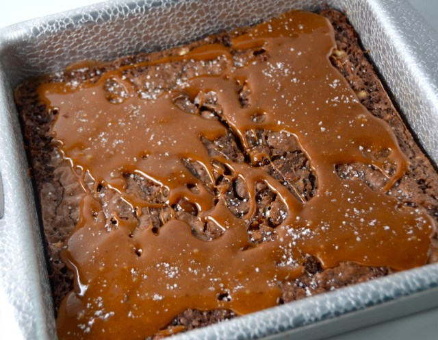 Salted Caramel-Nut Brownies
