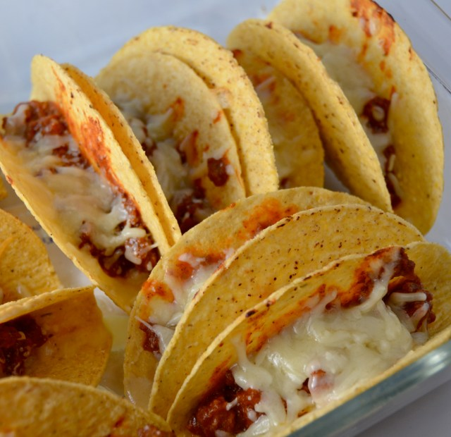 Sloppy Joe Oven Baked Tacos