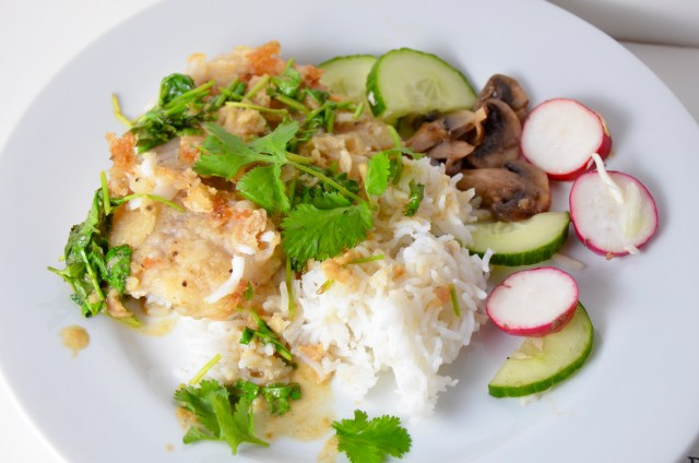 Lime-Cilantro Tilapia With Cilantro-Coconut Rice