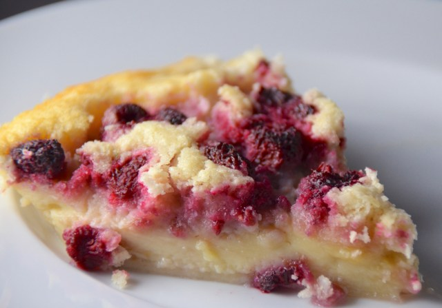 Lemon, Coconut And Raspberry Impossible Pie